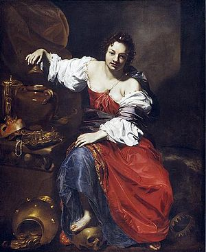Nicolas Régnier - Nicolas Régnier, c. 1626, Allegory of Vanity - Pandora.  It shows a jar, not box.