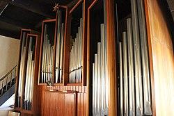 Niederbexbach Jakobuskirche Innen Orgelprospekt 03.JPG