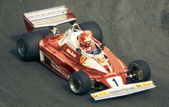 1976 British Grand Prix - Niki Lauda at the 1976 British Grand Prix.
