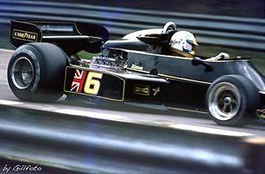 Gunnar Nilsson - Nilsson in his Lotus 77, during the 1976 British Grand Prix