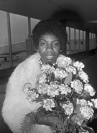 Nina Simone - Simone at Amsterdam Airport Schiphol in Amsterdam, Netherlands in March 1969