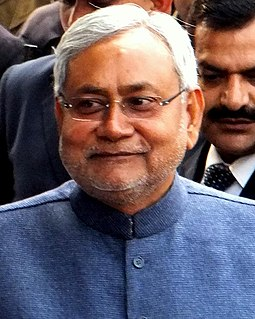 Indian politician and Current Chief Minister of Bihar