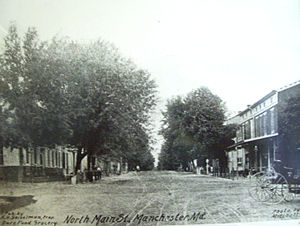 Manchester, Maryland - North Main St, circa 1900