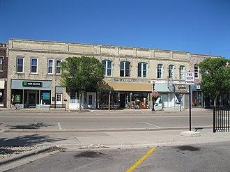 Edgerton, Wisconsin - Fulton Street in downtown Edgerton