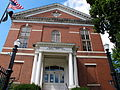 Northbridge Memorial Town Hall--Whitinsville Historic District.JPG