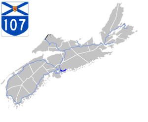 Nova Scotia Highway 107 - Image: Nova Scotia 107 Map