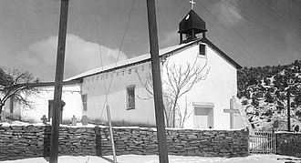Santa Fe County, New Mexico - Nuestra Senora de Luz Church, Canoncito