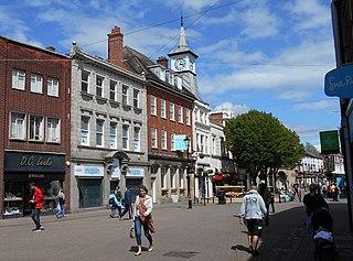 Nuneaton town in Warwickshire, England