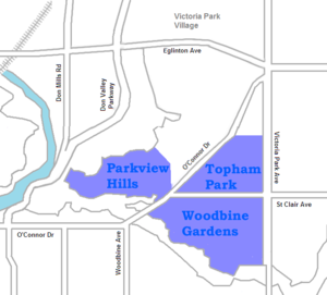 O'Connor–Parkview - Image: O'Connor Parkview map