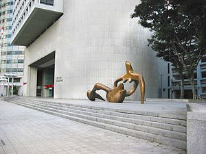 Reclining Figure 1938 - Bronze at the OCBC Centre, Singapore