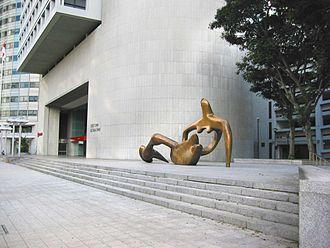 Reclining Figure 1938 - Bronze at the OCBC Centre, Singapore