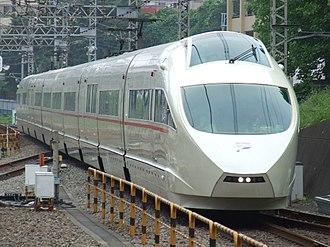 Odakyu Electric Railway - An Odakyu 50000 series VSE Romancecar near Shin-Yurigaoka station