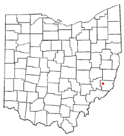 Location of Lewisville, Ohio