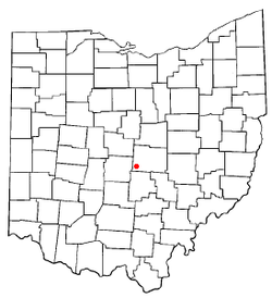Location of Pataskala, Ohio
