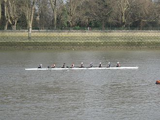 Oxford University Women's Boat Club - OUWBC competing at Women's Eights Head of the River on the Tideway, March 2012