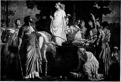 Odysseus and Nausicaä - by Charles Gleyre.
