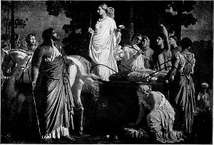 Odyssey - Charles Gleyre, Odysseus and Nausicaä