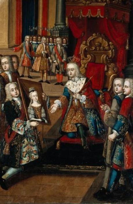 Oferta do retrato de Santa Joana ao rei francês - Manuel Ferreira e Sousa