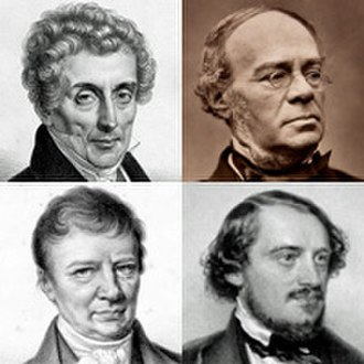 Jacques Offenbach - Early influences: Luigi Cherubini and Fromental Halévy (top); Louis-Pierre Norblin and Friedrich von Flotow (below)