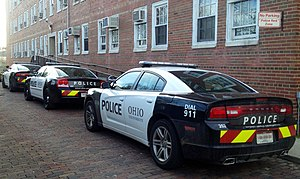 Campus police - Patrol cars of the Ohio University Police Department in Athens, Ohio.
