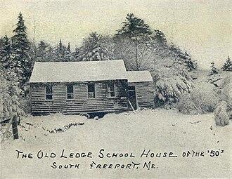 Freeport, Maine - Old Ledge Schoolhouse c. 1905