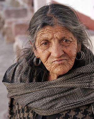 Old lady from Zacatecas, Mexico