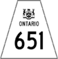 Highway 651 shield