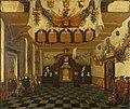 Ontvangst van Prins Willem III in 1674 in de Statenkamer van Utrecht ter gelegenheid van zijn aanstelling tot erfstadhouder Centraal Museum 2318.jpg