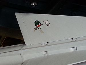 Oozlefinch - Oozlefinch depicted on a Nike-Ajax missile, Fort Warren, Massachusetts