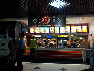 Oporto (restaurant) - Oporto outlet at Victoria Place, located above Victoria station, in London, England