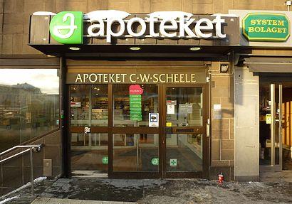 Vägbeskrivningar till Apoteket C W Scheele med kollektivtrafik