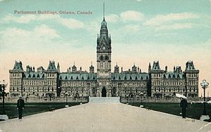 Legislative Assembly of the Province of Canada - Parliament Buildings in Ottawa 1866-1867