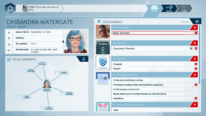 Orwell (video game) - The game's interface