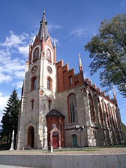Orzesze-Woszczyce. Zespół zabudowy kościoła p. w. Świętych Piotra i Pawła1.JPG