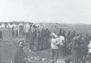 Hauran Druze Rebellion - Sami Pasha al-Faruqi's troops used in the Druze rebellion near Daraa railway station.