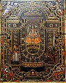 Our Lady of Copacabana, artist unknown, Bolivia, 18th century, oil on incised copper plate - Blanton Museum of Art - Austin, Texas - DSC08150.jpg