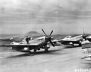 P-51s at North Field Iwo Jima 1945