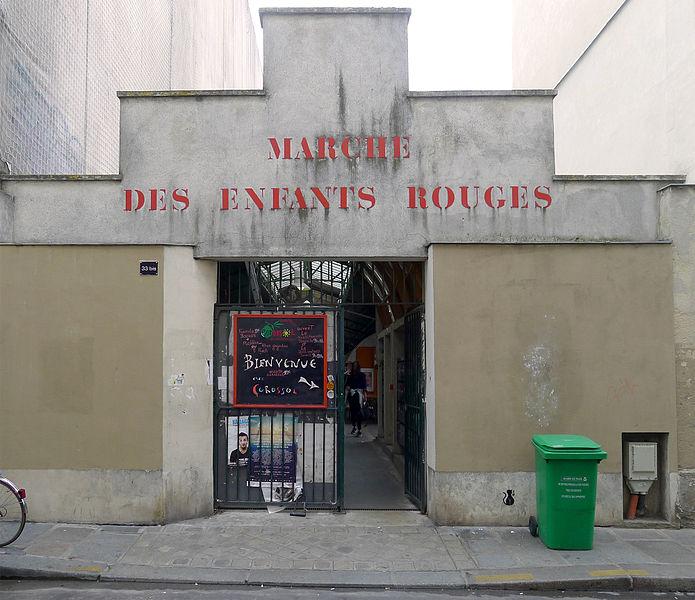 Fichier:P1270740 Paris III rue Charlot n33bis marche des Enfants-Rouges rwk.jpg