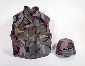 Personnel Armor System for Ground Troops - Image: PASGT vest and helmet, 1991