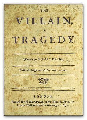 Thomas Porter (dramatist) - Image: PORTER(1670) The Villain, a tragedy
