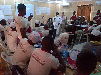 Ebola virus disease in Nigeria - Nigerian health care workers at a training event, August 2014