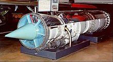 Pratt & Whitney J57 in esposizione