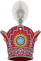 Pahlavi Crown of Imperial Iran (heraldry).svg