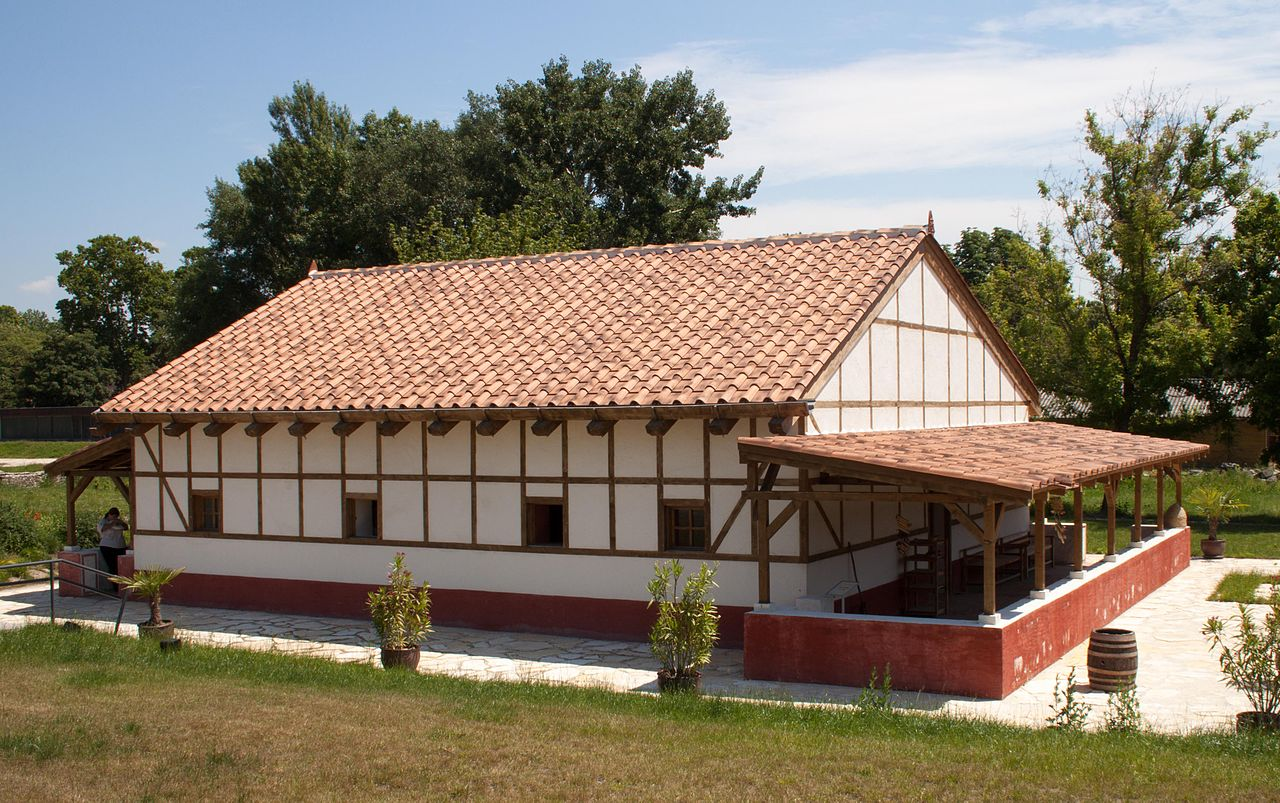 House Reconstruction file:painting-house - reconstruction of a roman house in the