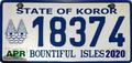 Palau license plate Koror 2020 b.png