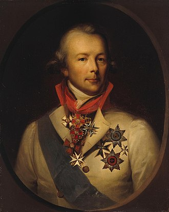 Order of Saint Lazarus - Peter Ludwig von der Pahlen (1745–1826) with the Order of Saint Lazarus knight cross