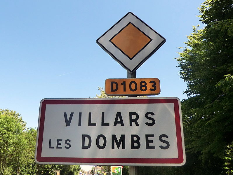 Panneaux d'entrée Villars-les-Dombes.