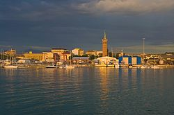 View of the port of Civitanova Marche.