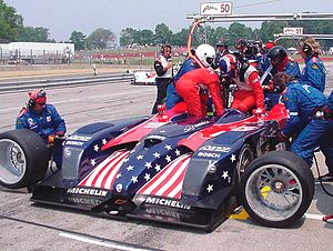 English: American Le Mans Series (ALMS) race a...