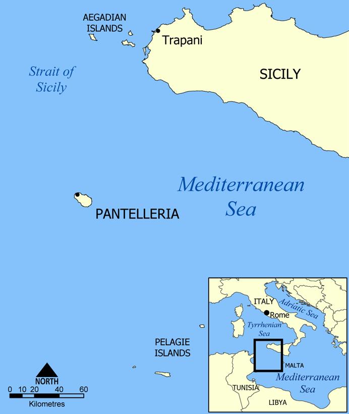 Pantelleria map